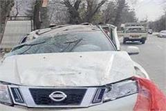 high speed car collided with hill driver died on the spot