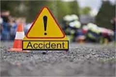 tragic accident high speed truck rammed scooty rider