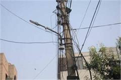 khatara became street lights of estate a block no improvement taking place