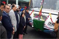 arora flagged off bus from hoshiarpur to jaipur