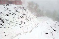 snowfall continues in upper areas of sirmaur