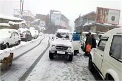 most of the roads affected by snowfall in shimla restored