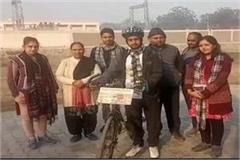 panipat reached to make people aware by traveling youth