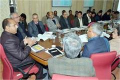 review meeting of ground breaking ceremony