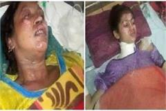 burned alive by pouring petrol on the woman and her 5 children