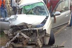 tragic accident pickup collided car parked on roadside 2 people dead