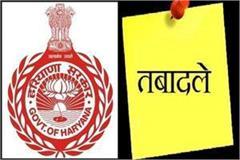 25 hcs officers transferred in haryana