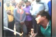 youth sitting in wheelchair were raining poles on divyang