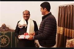 lok sabha speaker om birla met deputy cm dushyant