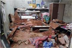 grandmother dies due to roof collapse 2 girls injured