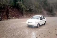 heavy rain and hailstorm in bilaspur