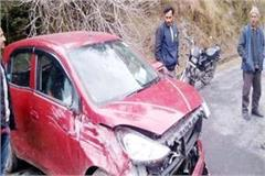 when the car fell from main road to link road