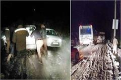 police rescues 187 tourists stranded in snow