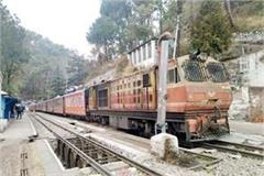gasp toy train engine again on kalka shimla track