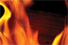 fire set in the forest department s rest house