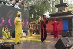 color of punjab police jawans shown at surajkund fair many programs presented