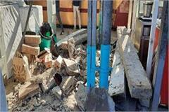 bhopal railway station shed falls many people injured
