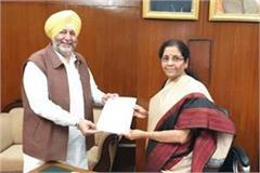 mp dimpa submits memorandum to union finance minister