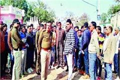tension created regarding ravidas jayanti venue sdm and dsp inspected