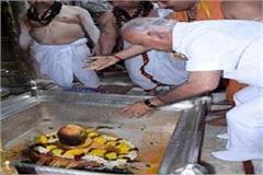 karnataka cm bs yeddyurappa reached varanasi visited kashi vishwanath