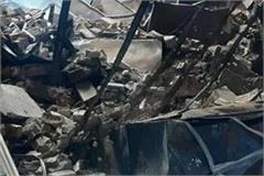 fierce fire in mathura warehouse burning goods worth lakhs