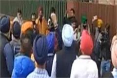 punjab budget protest against manpreet badal s house