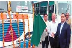 under the km scheme 13 buses were given d c has given the green signal