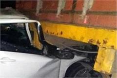 accident on rama mandi bridge 2 injured