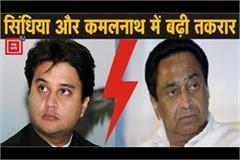 dispute in kamal nath and scindia