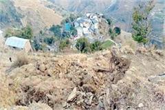 landslide threatens on this village