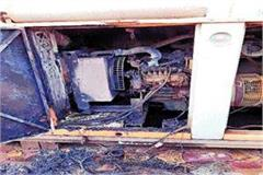 sbi from short circuit fire in the generator accident averted