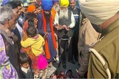 nihang sikhs shouted slogans in moga