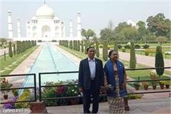 myanmar s president u win mint collaborates with wife taj mahal