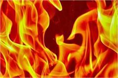 due to short circuit 9 acre crop of farmer burnt to ashes