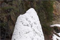 shivling of snow is made higher than amarnath here