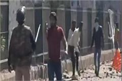 the pistol was strapped on the chest yet haryana jawan stood in front of rioter