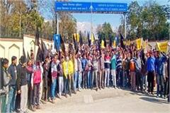 kangra airport protest rural sloganeering