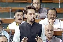 protest of anurag thakur s speech in lok sabha