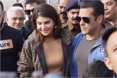 salman reaches bhopal with jacqueline will press conference shortly