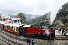 114 year old steam engine ran on shimla kalka track