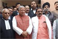 bjp mp rajendra aggarwal surrendered in court