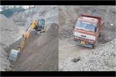 sundernagar police illegal mining vehicles seized