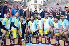 hp police in men category stc dharamshala team winner in women category