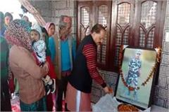tribute to martyr tilak raj in pulwama attack