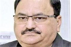 jp nadda meeting with cm jairam and rajeev bindal