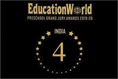 ivy world play school secured fourth position in india