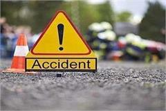 tragic accident car rammed into divider uncontrolled 1 killed 2 injured
