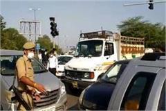 corona noida completely locked down many vehicles stuck on dnd border