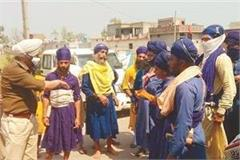 nihang sikh were not allowed to stay in the village
