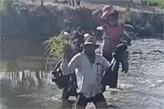 up due to corona boundaries district are sealed crossing the pandu river